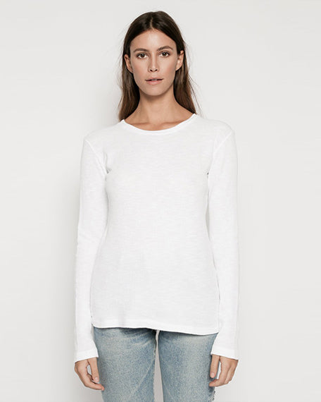 Thermal Long Sleeve Tee | White