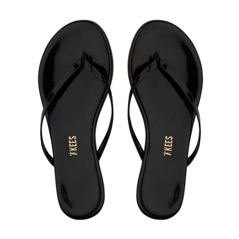 Glossy Patent Flip Flop | Licorice