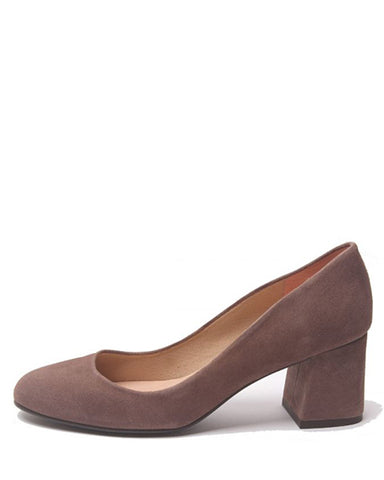 Trance Heel | Taupe Suede