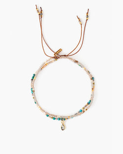 18K Gold Plated Adjustable Turquoise Bracelet