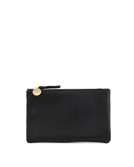 Wallet Clutch | Black Lizard