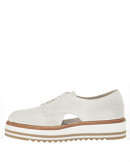 Brody | Textured White Leather
