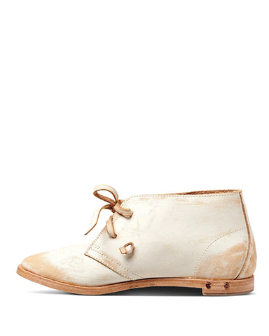 Bunting Bootie | White Sanded Leather