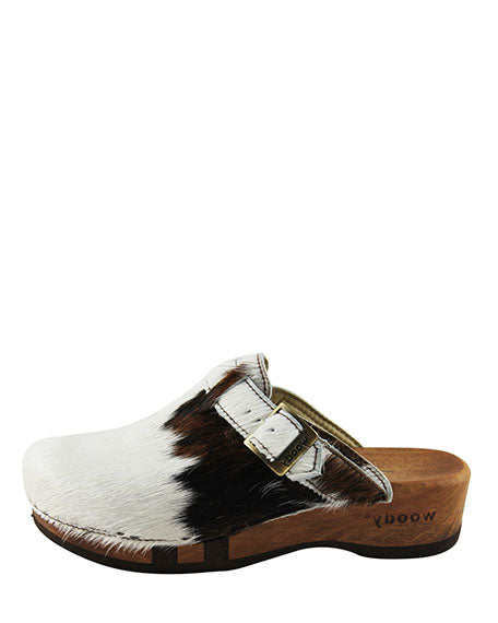 Woody Clog | Natural Cowhide