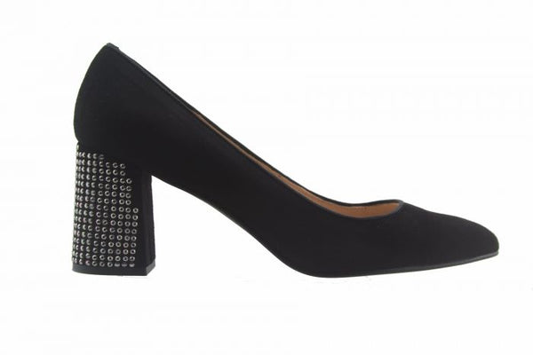 Zepplin Heel | Black Suede