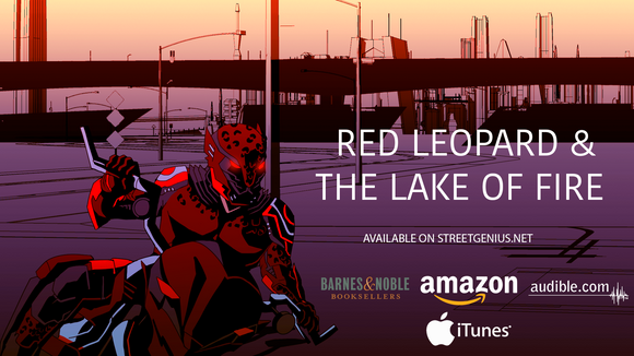 Red Leopard And The Lake Of Fire