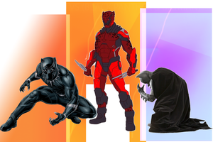 Red Leopard Vs Black Panther (and Batman)