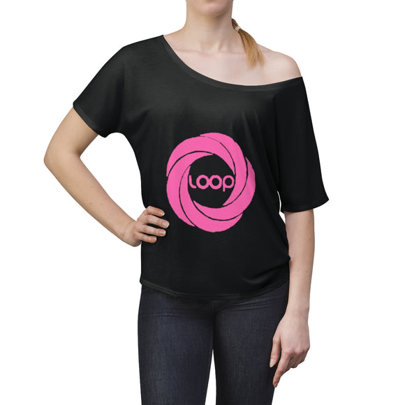 Pink Loop Women's Slouchy top (Multi-Colors)