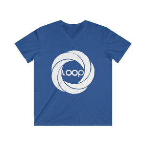 Loop Men's Fitted V-Neck Short Sleeve Tee (Multi Colors)