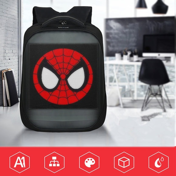 Smart Magic LED Book Bag / Back Pack APP Control Advertising Mobile Billboard School Backpack LED Backpack