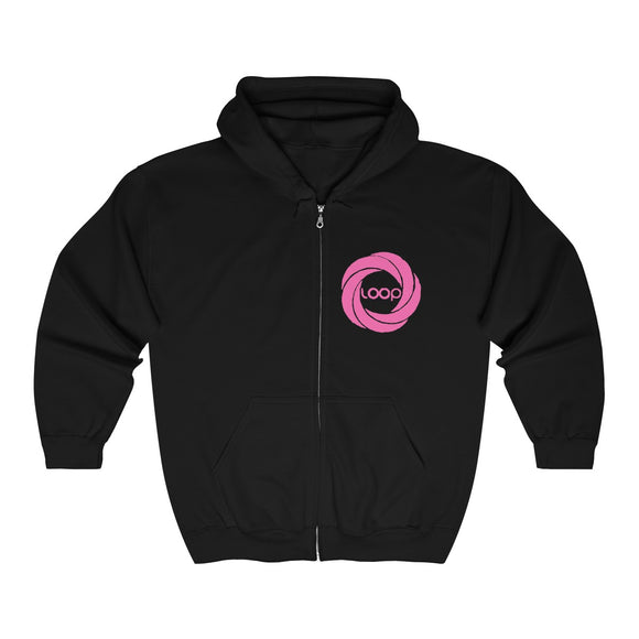 Pink Loop Unisex Heavy Blend™ Full Zip Hooded Sweatshirt (Multi-Colors)