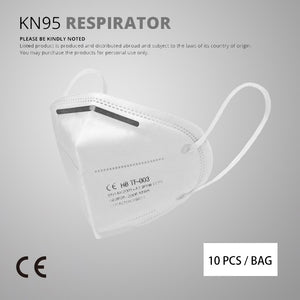Street Genius 10 pcs/bag KN95 Face Mask PM2.5 Anti-fog Strong Protective Mouth Mask Respirator Reusable (not for medical use)