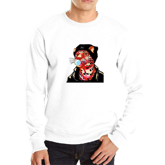 Red leopard cool sweatshirt