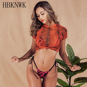 New Red Leopard Three piece Bikini set 2019