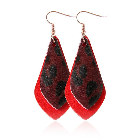 Red Leopard Ear Rings (Dope)