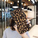 Red Leopard Phone Case For iPhone 11 6 6s 7 8 Plus XS X XR XS