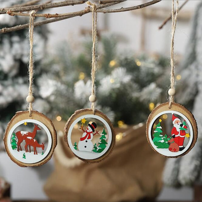 2019 Wooden Christmas Ornaments-Christmas-Discounted Holidays