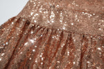 One Shoulder Sparkly Sequin Evening Dress