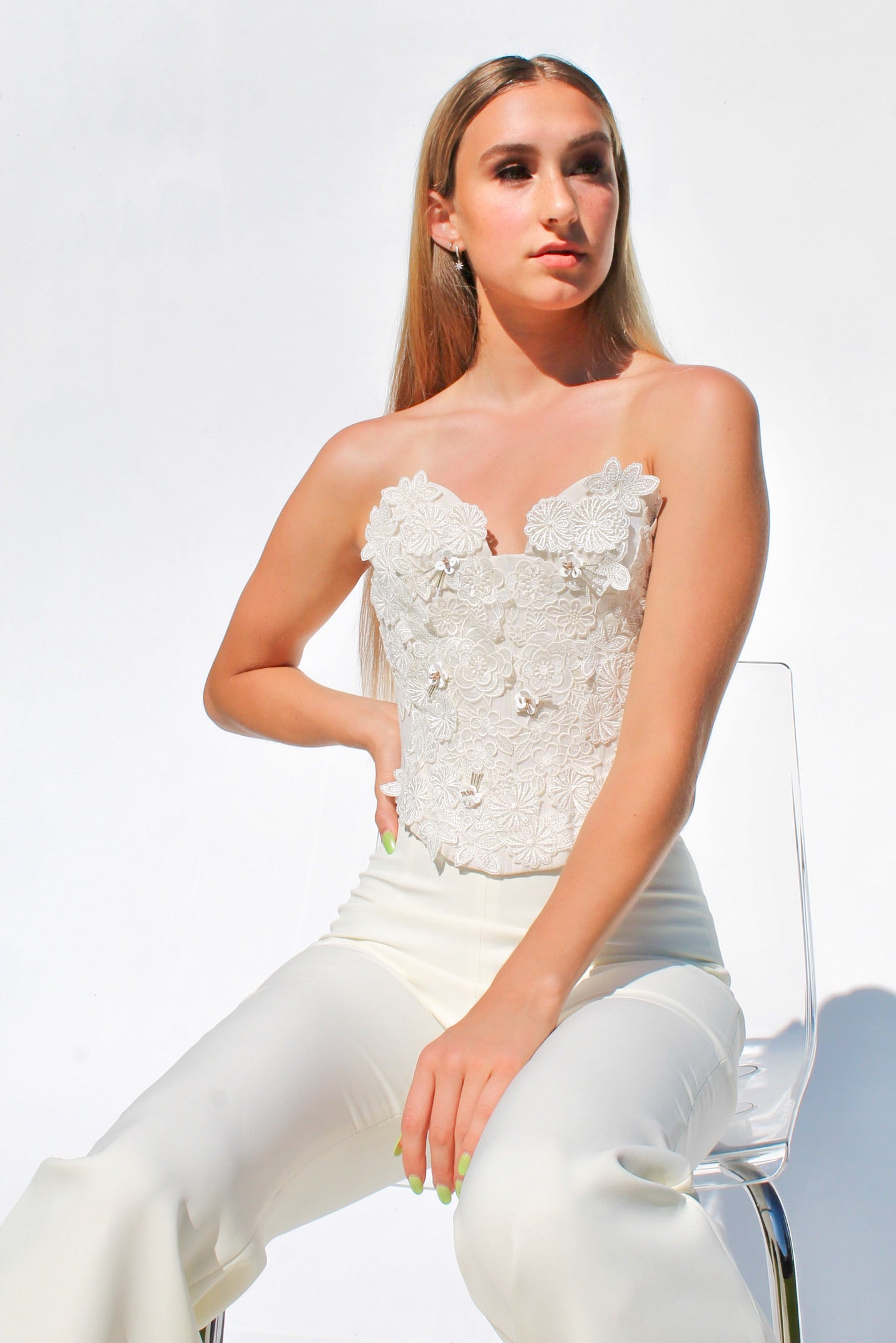Floral Lace Embroidered Corset