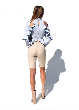 [SALE] Beige Biker Shorts