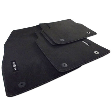 Insignia A Facelift Velour Car Mats - (2014-2017) - Black with Stitched Edges