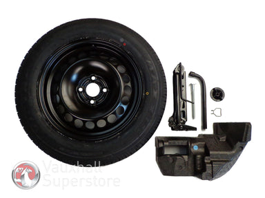 Corsa D (2006-2015) Full Sized Spare Wheel 16 Inch 4 Stud - Complete Kit