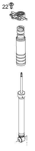 VAUXHALL SHOCK ABSORBER - GENUINE NEW - 95527309