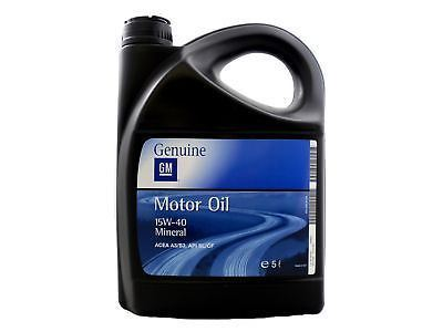 Gm 15w 40 Mineral Engine Oil 5 Litre Vauxhall Superstore