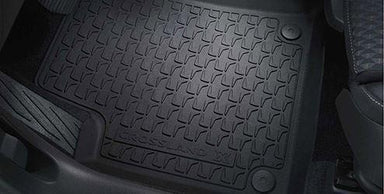 VAUXHALL Genuine Crossland X Footwell Floor Mats Rubber All Weather - Jet Black - Mud/Rain/Snow/Footwell/passenger/Driver/Rear/Front