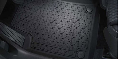 VAUXHALL Genuine Crossland X Footwell Floor Mats Rubber All Weather - Jet Black - Mud/Rain/Snow/Footwell/Passanger/Driver/Rear/Front