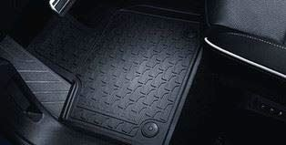 VAUXHALL Genuine Grandland X - Rubber Floor Mats - All Weather - Jet Black - Mud/Rain/Snow/Footwell/Passanger/Driver/Rear/Front