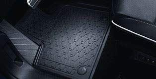 VAUXHALL Genuine Grandland X - Rubber Floor Mats - All Weather - Jet Black - Mud/Rain/Snow/Footwell/passenger/Driver/Rear/Front