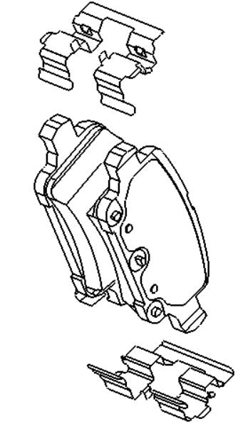 VAUXHALL BRAKE PAD KIT - GENUINE NEW - 95526568