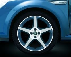 Tigra B (2004-) 17 Inch 5 Star Spoke Alloy Wheels - Set of Four