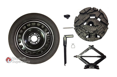 Meriva B (2010-) 16 Inch Space Saver Spare Wheel & Jack - Complete Kit