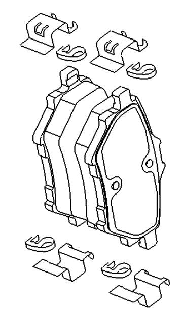 VAUXHALL BRAKE PAD KIT -  GENUINE NEW - 95525386