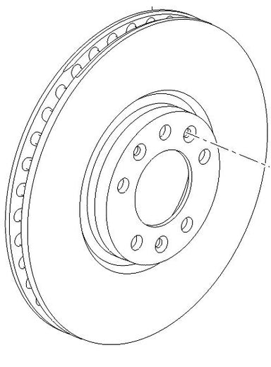 VAUXHALL BRAKE DISC - GENUINE NEW - 3641958