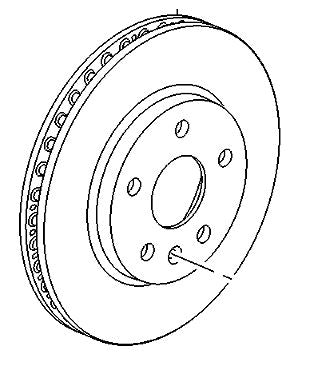 VAUXHALL BRAKE DISC - GENUINE NEW - 13579147