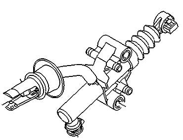 VAUXHALL CLUTCH MASTER CYLINDER - GENUINE NEW - 93462533 (NLS Use. 93462533)