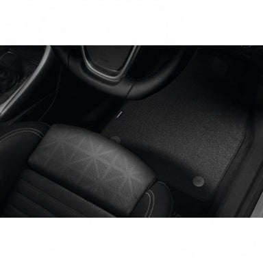 Cascada Velour Floor Mats- Jet Black (Set of Four)