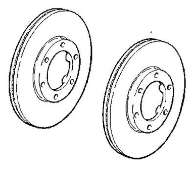 VAUXHALL FRONT BRAKE DISC - GENUINE NEW - 97034034