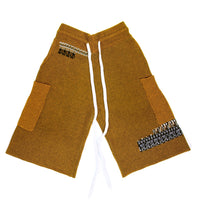 GLITCH SHORT IN OCHRE
