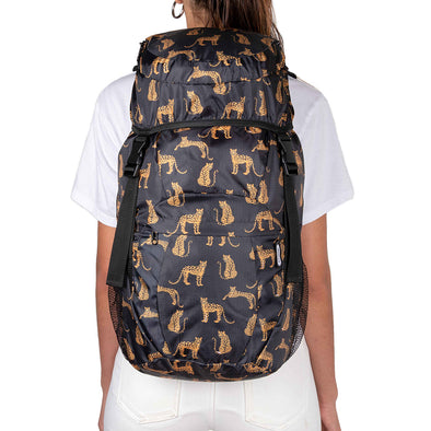 Morral Viajero Plegable Estampado Leopardos