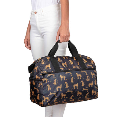 Maleta M Plegable Estampado Leopardos Citybags Multicolor