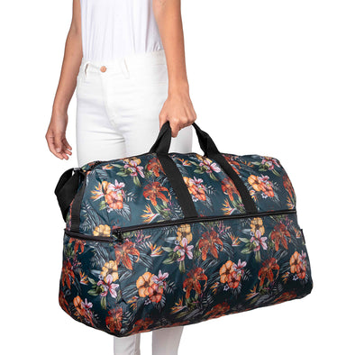 Maleta XL Plegable Estampado Flores