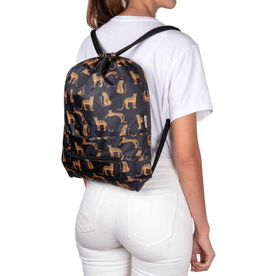 Tula Plegable Estampado Leopardos Citybags Multicolor