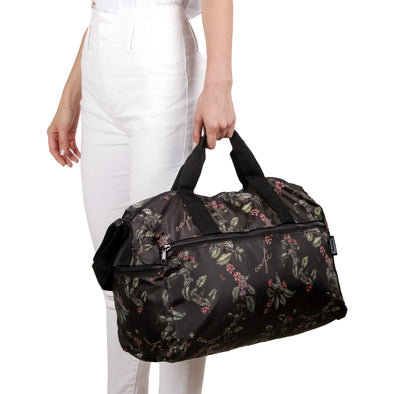 Maleta M Plegable Estampado Café Citybags Multicolor