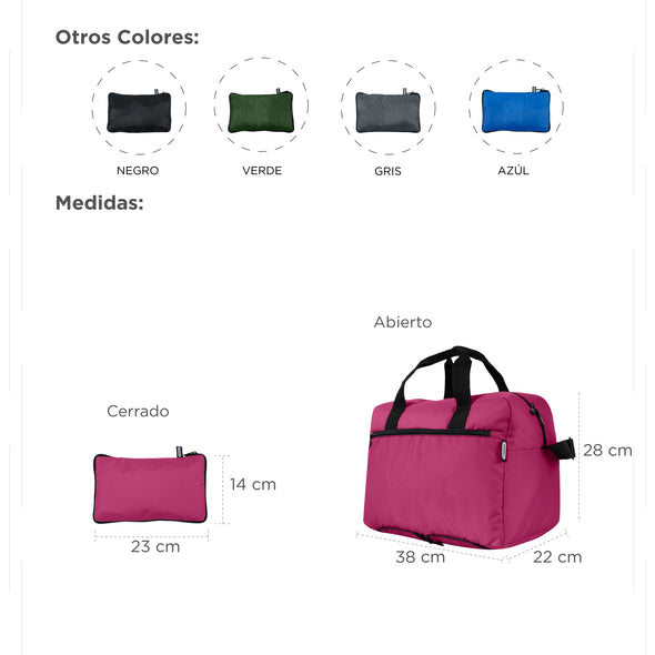 Maleta Deportiva Plegable Estampado Cafe