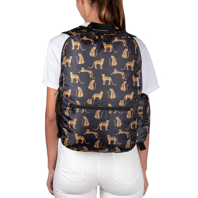 Morral Plegable Estampado Leopardos Citybags Multicolor