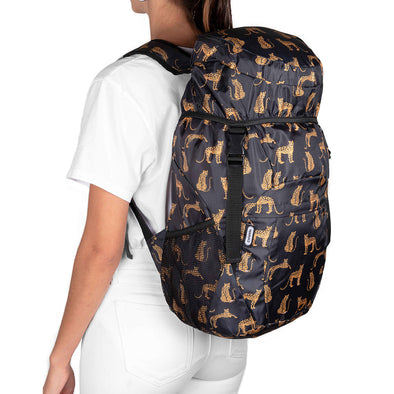 Morral Viajero Plegable Estampado Leopardos Citybags Multicolor